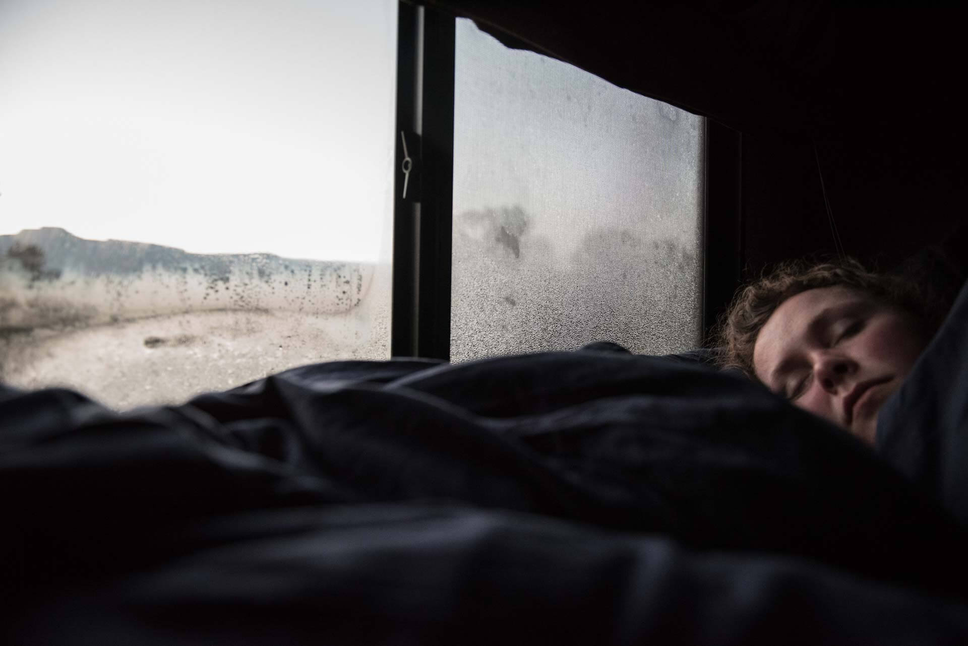 Sleeping in the RV